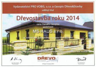 Ocenění domu MS 07 čtenáři časopisu Dřevo&Stavby