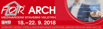 Veletrh FOR ARCH 2018 Praha