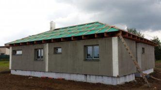 Den otevřených dveří na stavbě - předváděcí montáž dřevostavby - dům za 5 dní se zárukou 30let