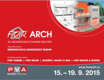 Pozvánka a volné vstupenky na veletrh FOR ARCH 2015