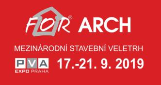 Zveme Vás na veletrh FOR ARCH