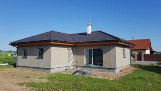 Stavba dřevostavby v obci Kočí