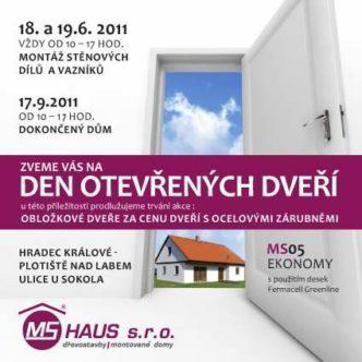 Den otevřených dveří - dokončený dům
